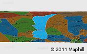 Political Panoramic Map of S.J. do Cariri, darken