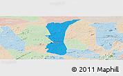 Political Panoramic Map of S.J. do Cariri, lighten