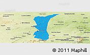 Political Panoramic Map of S.J. do Cariri, physical outside
