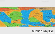 Political Panoramic Map of S.J. do Cariri