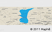 Political Panoramic Map of S.J. do Cariri, shaded relief outside