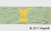 Savanna Style Panoramic Map of S.J. do Cariri