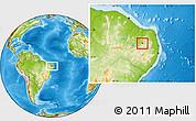 Physical Location Map of S.J. do Sabugi