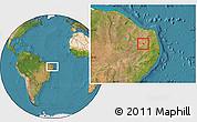Satellite Location Map of S.J. do Sabugi