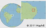 Savanna Style Location Map of S.J. do Sabugi