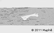 Gray Panoramic Map of S.J.Dos Cordeiro