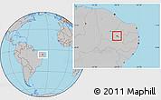 Gray Location Map of S.J.Lagoa Tapada