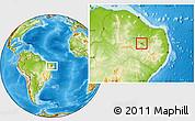 Physical Location Map of S.J.Lagoa Tapada