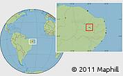 Savanna Style Location Map of S.J.Lagoa Tapada