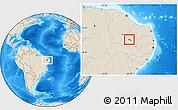 Shaded Relief Location Map of S.J.Lagoa Tapada