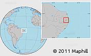 Gray Location Map of Salgado S.Felix