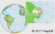 Political Location Map of Salgado S.Felix, highlighted parent region