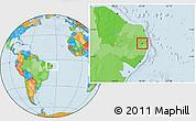 Political Location Map of Salgado S.Felix