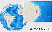 Shaded Relief Location Map of Salgado S.Felix