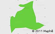 Political Simple Map of Salgado S.Felix, single color outside