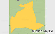 Savanna Style Simple Map of Salgado S.Felix