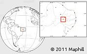 Blank Location Map of Santana de M.