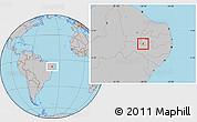 Gray Location Map of Santana de M.