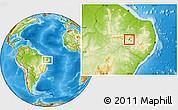 Physical Location Map of Santana de M.