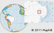 Political Location Map of Santana de M., highlighted country