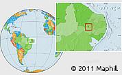 Political Location Map of Santana de M.