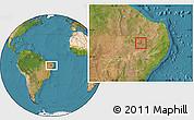 Satellite Location Map of Santana de M.