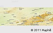 Physical Panoramic Map of Sao Sebastiao U.