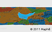 Political Panoramic Map of Sao Sebastiao U., darken