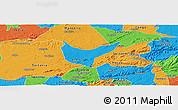 Political Panoramic Map of Sao Sebastiao U.