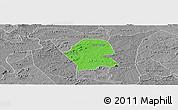 Political Panoramic Map of Serra Branca, desaturated