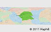 Political Panoramic Map of Serra Branca, lighten
