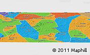 Political Panoramic Map of Serra Branca