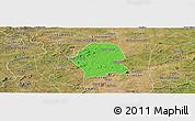 Political Panoramic Map of Serra Branca, satellite outside