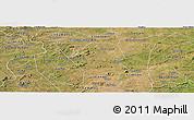 Satellite Panoramic Map of Serra Branca