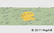 Savanna Style Panoramic Map of Serra Branca