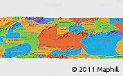 Political Panoramic Map of Souza