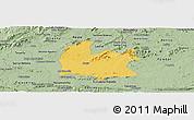 Savanna Style Panoramic Map of Souza