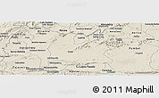 Shaded Relief Panoramic Map of Souza