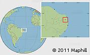 Savanna Style Location Map of Tacima
