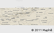Shaded Relief Panoramic Map of Taperoa