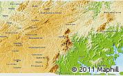 Physical 3D Map of Campina Grande d