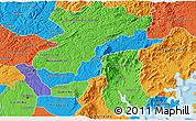 Political 3D Map of Campina Grande d