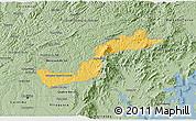 Savanna Style 3D Map of Campina Grande d