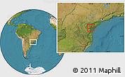 Satellite Location Map of Campina Grande d