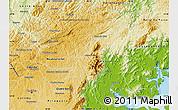 Physical Map of Campina Grande d