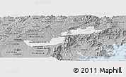 Gray Panoramic Map of Campina Grande d