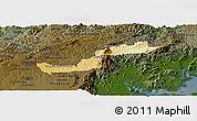 Physical Panoramic Map of Campina Grande d, darken