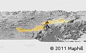 Physical Panoramic Map of Campina Grande d, desaturated