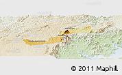 Physical Panoramic Map of Campina Grande d, lighten