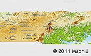 Physical Panoramic Map of Campina Grande d